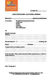 Kolourseal Seminar Application Form