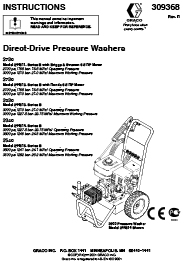 G-Force Pressue Washer 3540 Manual
