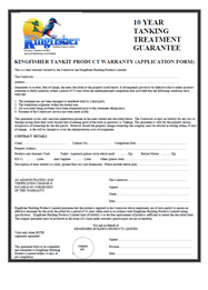 Tanking Guarantee Application Form