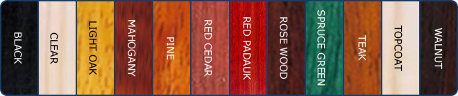 KX-10 Decking Stain / Wood Stain Swatches